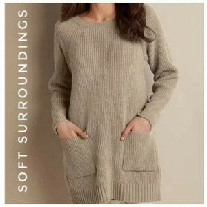 Soft Surroundings Cozy Chenille Pullover Sweater